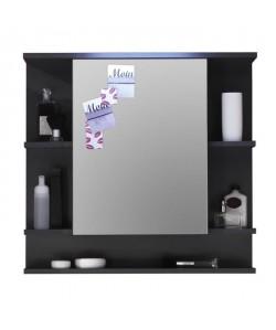 TETIS Armoire de toilette L 72 cm  Gris graphite