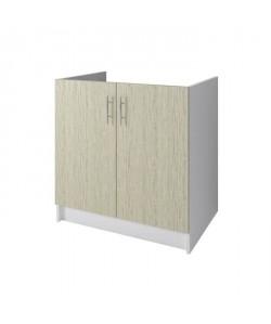 OBI Meuble sousévier L 80 cm  Décor chene Monumental et blanc