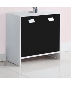 TOP Meuble sousvasque L 60 cm  Blanc et noir