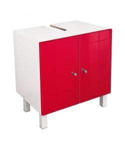 CORAIL Meuble sous lavabo L 60 cm  Rouge haute brillance