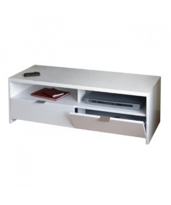 BANCO Meuble TV contemporain blanc brillant  L 110 cm