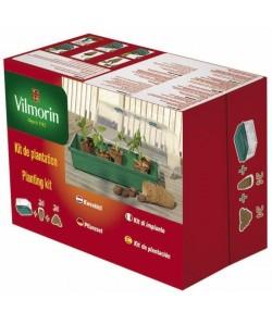 VILMORIN Kit serre rigide  24 godets 6 cm  24 pastilles coco