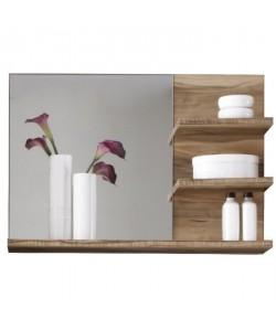 CANCUN Miroir de salle de bain L 72 cm  Décor noyer doré mat