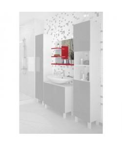 CORAIL Miroir de salle de bain L 60 cm  Rouge haute brillance