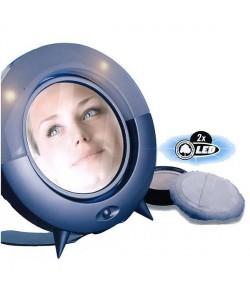 Miroir a maquillage LED 26 x 23 x 4,5 cm