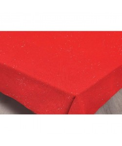 SUCRE D\'OCRE Nappe de table STRASS 180x180 cm  Rouge