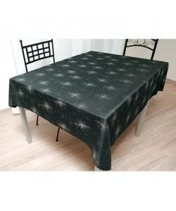 SUCRE D\'OCRE Nappe de table STRASS 140x300 cm  Noir