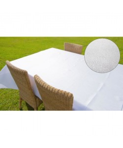 SUCRE D\'OCRE Nappe de table rectangle BELLA 160x300 cm  Blanc