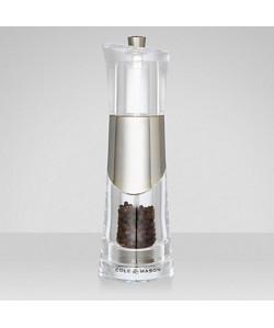 COLE&MASON BOBBI Moulin a poivre H57271P 18,5cm gris et transparent