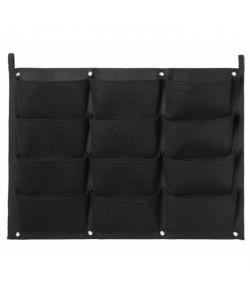 NATURE Mur végétal en tissu feutré (incl. attaches balcon)  noir, H62 x 82 cm