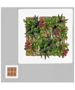 Mur végétal en métal 37x37cm  Blanc