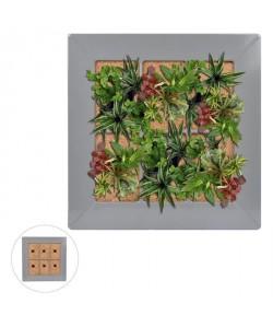 Mur végétal en métal 37x37cm  Gris