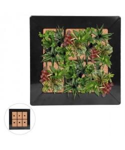 Mur végétal en métal 37x37cm  Noir