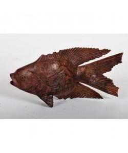 FISH Objet déco a poser Poisson sculpté en bois  16 x 9 x 6 cm