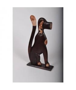DOG Objet déco a poser 28x10x54 cm bois Sculpté