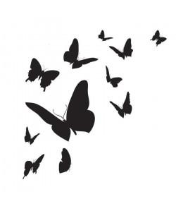 WALL IMPACT Stickers Papillons  30x31x1 cm  Vinyle calandré monomérique