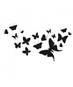WALL IMPACT Stickers Papillons  63x35x1 cm  Vinyle calandré monomérique