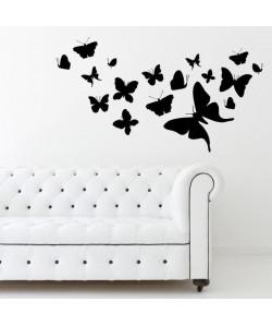 WALL IMPACT Stickers Papillons  45x25x1 cm  Vinyle calandré monomérique