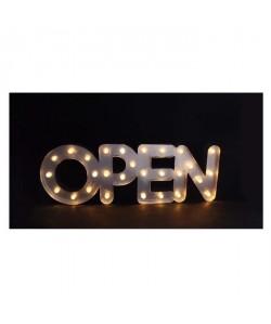 "Mot \""open\"" lumineux LED 0,06 W 69x5 cm gris"