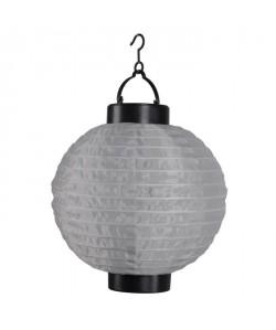 Lanterne chinoise solaire en plastique Ř20cm  Taupe