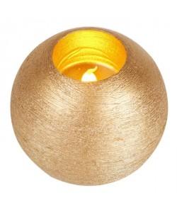 Bougie de Noël lumineux boule diametre 10 cm Or