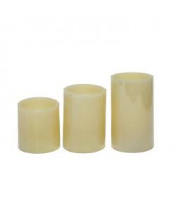 Set de 3 bougies LED PARMA hauteur 7,51012,5 cm blanc