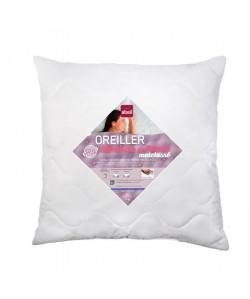 ABEIL Oreiller a mémoire de forme matelassé 60x60 cm blanc