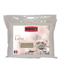 DODO Lot de 2 oreillers LEO 45x70 cm blanc