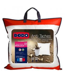 DODO Lot de 2 oreillers Percale AntiTâches TEFLON 65x65 cm blanc