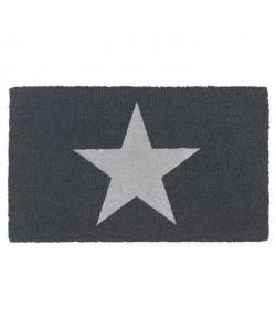 Paillasson brosse RUCO a motif étoile argenté 45x75cm  Fibre de coco