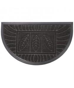 Tapis d\'entrée 45x75cm demilune feuilles noir