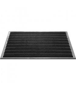 Paillasson a rayures  40x60 cm  Style Classique  Coloris Noir