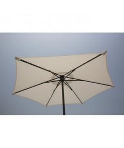 FINLANDEK Parasol droit en acier 2m  Blanc  AURINKO