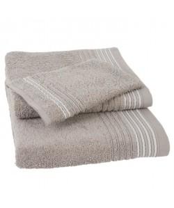 JULES CLARYSSE Lot de 1 serviette  1 drap de bain  1 gant de toilette Carl  Sable