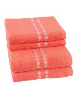 JULES CLARYSSE Lot de 2 serviettes  2 draps de bain Lotus  TERRA
