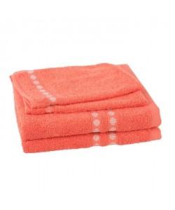 JULES CLARYSSE Lot de 2 serviettes  2 gants de toilette Lotus  Terra