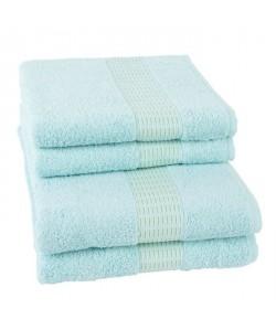 JULES CLARYSSE Lot de 2 serviettes  2 draps de bain Jasmine  Vert