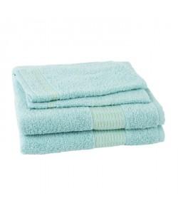 JULES CLARYSSE Lot de 2 serviettes  2 gants de toilette  15x21cm Jasmine  Bleu Eau