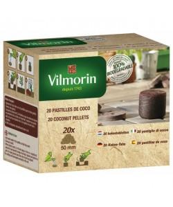 VILMORIN 20 Pastilles de coco 5 mm TOUT EN 1