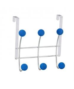 FRANDIS Patere de porte 6 tetes en métal Bleu