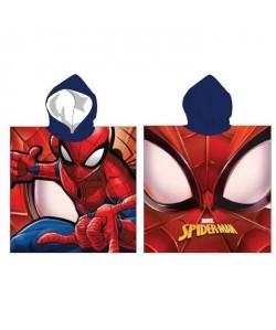 SPIDERMAN Poncho Microfibre 55x110cm  Rouge et Bleu
