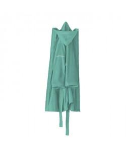 NAF NAF Peignoir avec capuche en velours 100% coton  Taille XL  Bleu turquoise