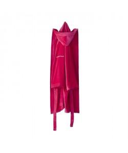 NAF NAF Peignoir avec capuche en velours 100% coton  Taille XL  Rose fuchsia