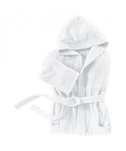 SANTENS Peignoir Capuche COCOONING Blanc  Taille L