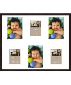ERIKA Cadre photos pelemele 6 vues 40x50 cm Wengé