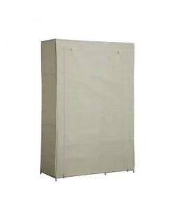 Armoire penderie souple Nomade 50 en tissu beige 105x45x158 cm