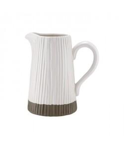 LADELLE Grand pichet  Blanc  Gres  18,5 x 14 x 22 cm