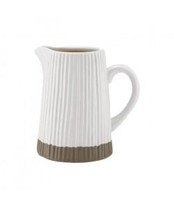 LADELLE Pichet  Blanc  Gres  17,5 x 12,5 x 18,5 cm