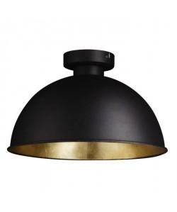 Plafonnier en métal 41x25 cm E27 60 W noir