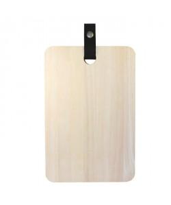 ECO DESIGN A1503 Planche a découper 20x30cm avec laniere en cuir Noir